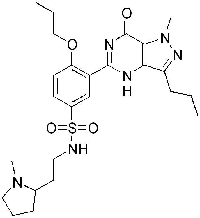 l'inhibiteur PDE5 formule chimique